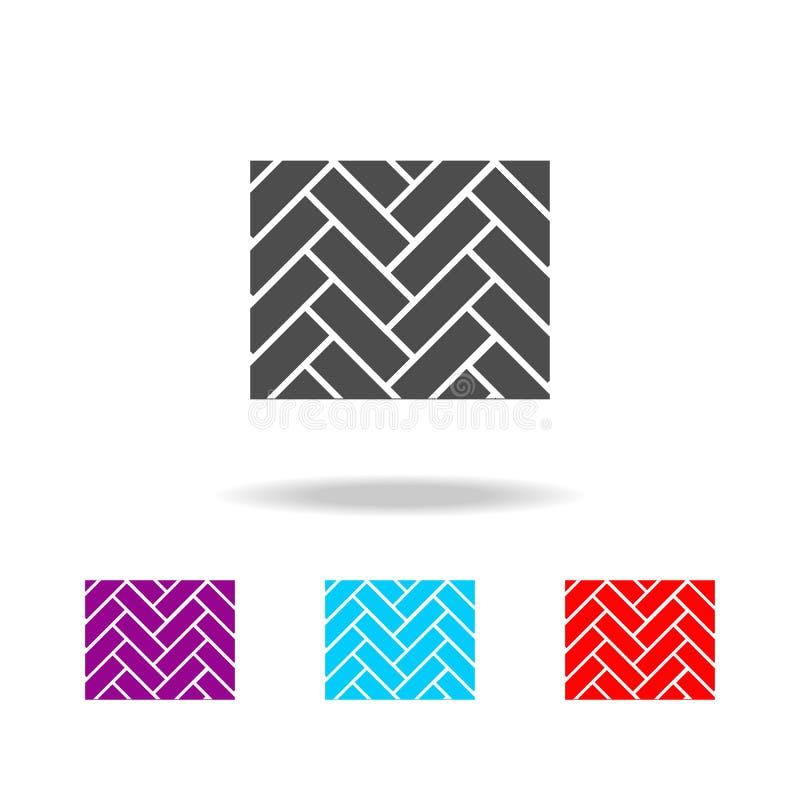 Icône de parquet Éléments des matériaux de construction dans les icônes colorées multi Icône de la meilleure qualité de conceptio illustration de vecteur