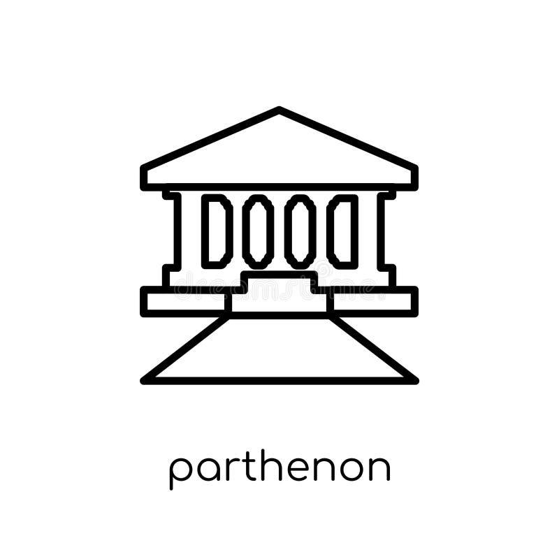 Icône de parthenon  illustration de vecteur