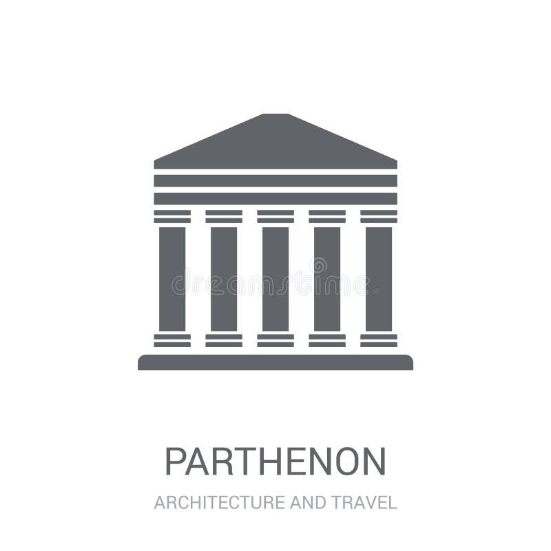 Icône de parthenon  illustration libre de droits