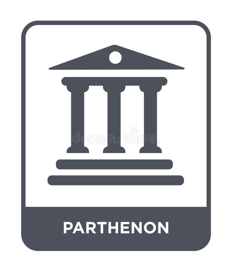 icône de parthenon dans le style à la mode de conception Icône de parthenon d'isolement sur le fond blanc appartement simple et m illustration stock
