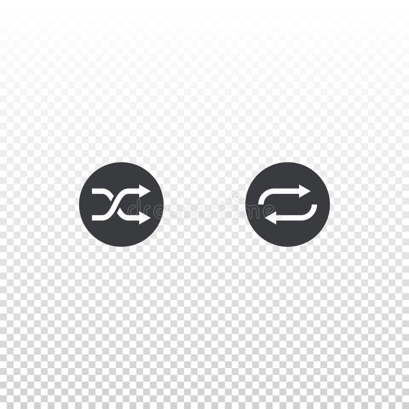 Icône de pas traînant et de boucle d'isolement sur le fond transparent Élément d'ensemble pour l'appli, le site Web ou le lecteur illustration libre de droits