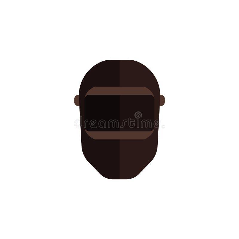 Icône de passe-montagne de noir de vecteur pour skier ou criminel illustration stock