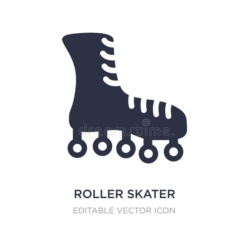 icône de patineur de rouleau sur le fond blanc Illustration simple d'élément de concept de mode illustration libre de droits