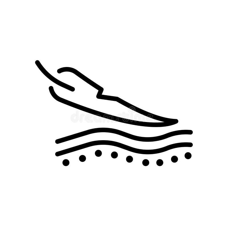 icône de peau sensible d'isolement sur le fond blanc illustration stock