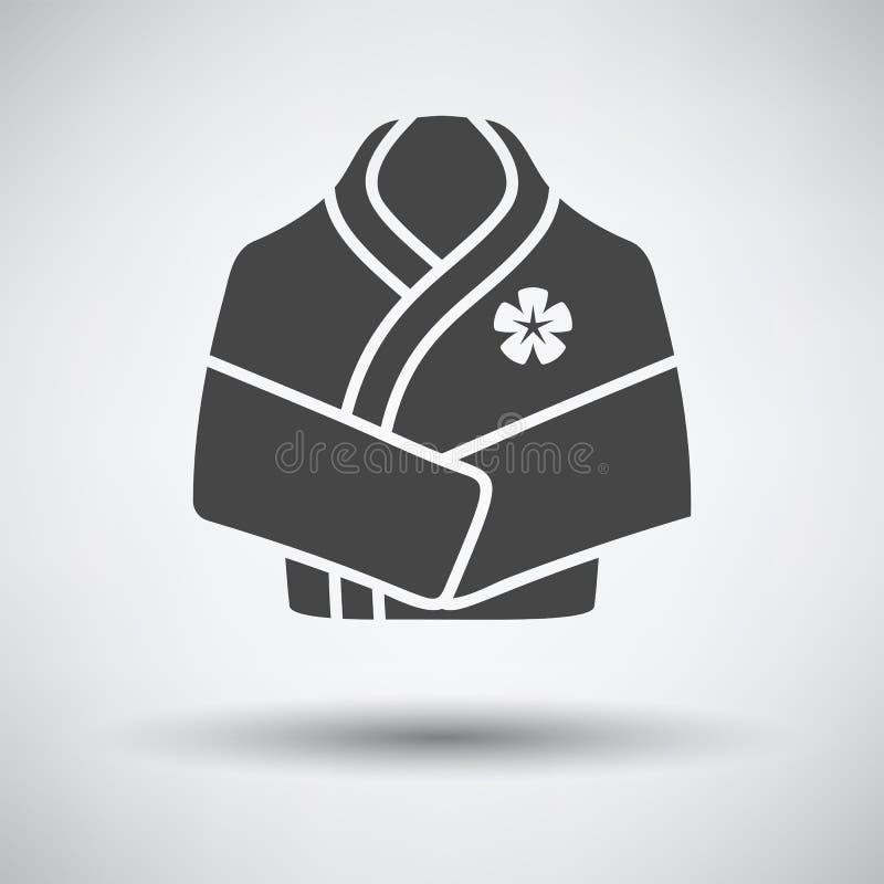 Icône de peignoir de station thermale illustration libre de droits