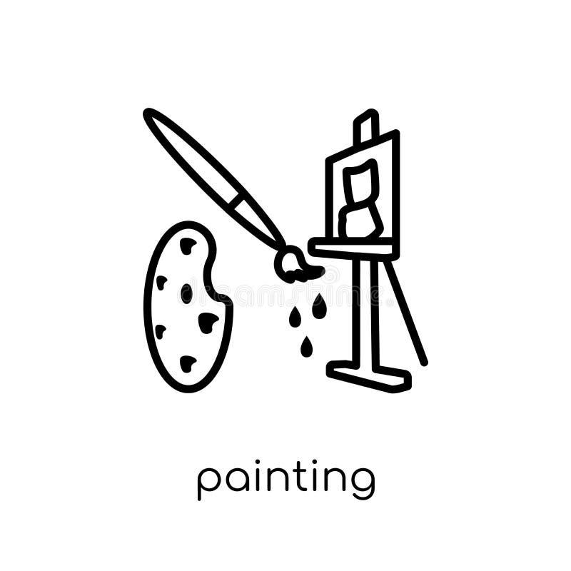Icône de peinture de collection illustration stock