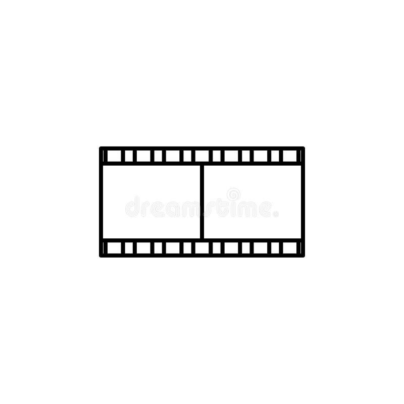 Icône de pellicule cinématographique Élément d'icône de Web pour le concept et le Web mobiles illustration de vecteur