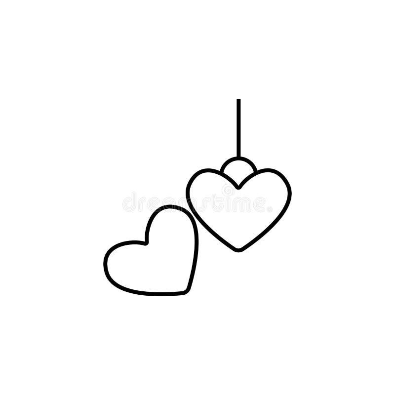 icône de pendentif Élément des bijoux pour l'illustration mobile d'apps de concept et de Web Ligne mince icône pour la conception illustration stock