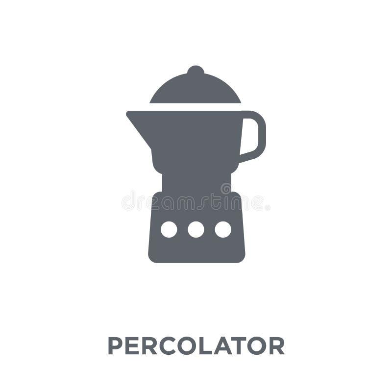 icône de percolateur de collection d'appareils électroniques illustration libre de droits