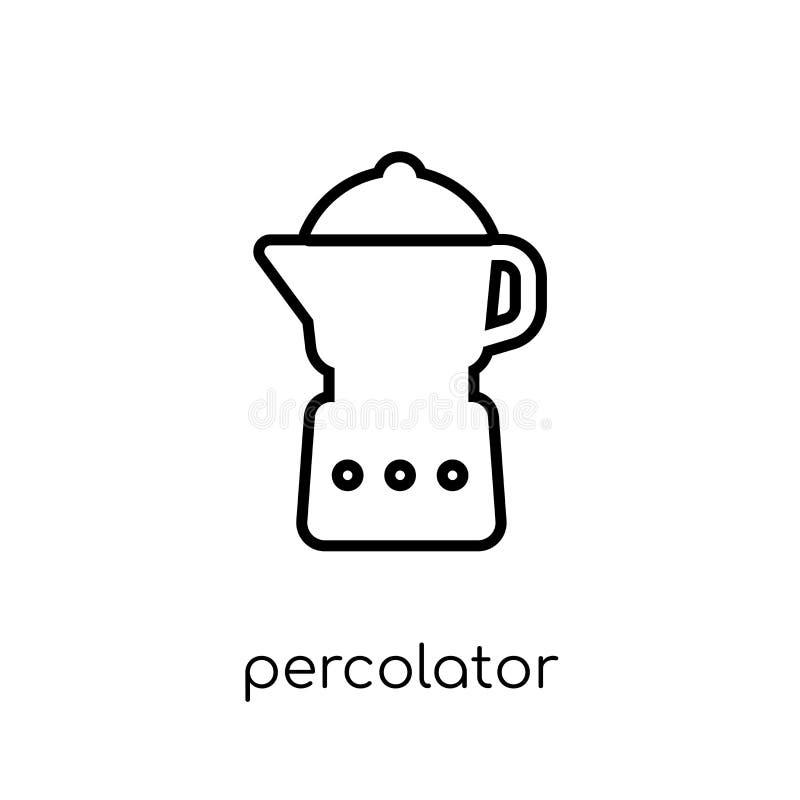 icône de percolateur de collection d'appareils électroniques illustration stock