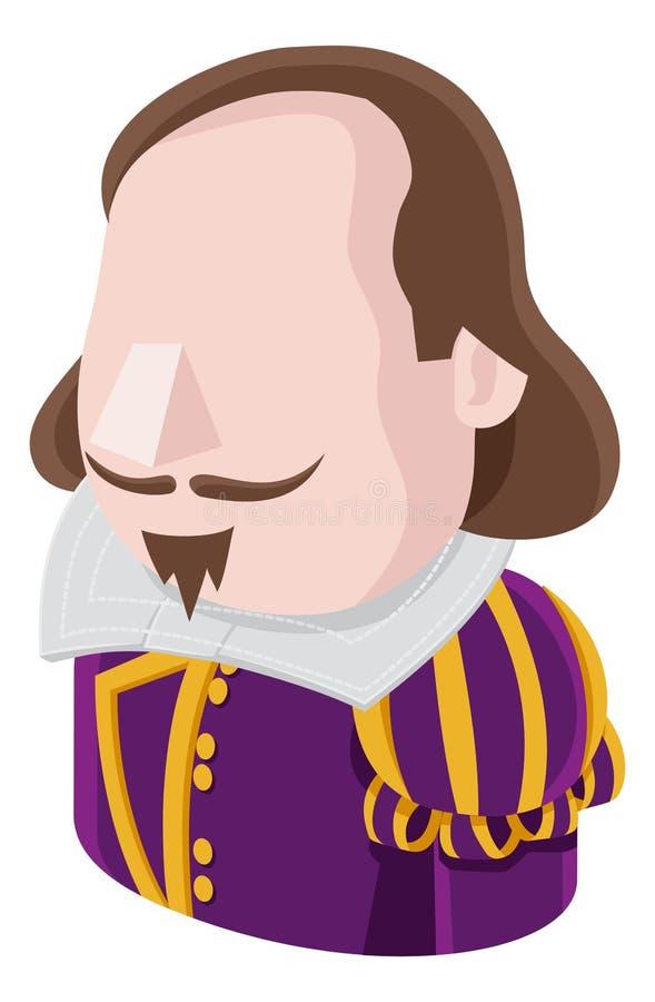 Icône de personnes d'avatar d'homme de Shakespeare illustration de vecteur