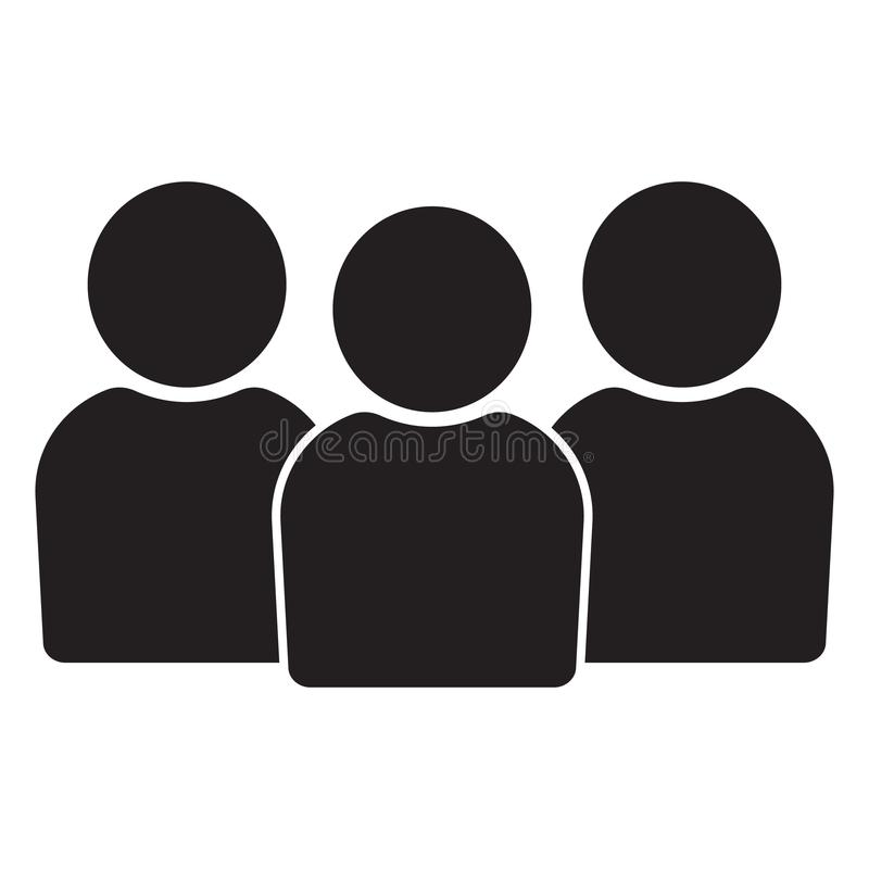 Icône de personnes, icône de groupe Icône de personnes dans le style plat, icône de personnes pour le web design illustration de vecteur