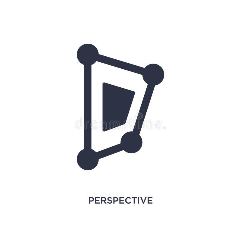 icône de perspective sur le fond blanc Illustration simple d'élément de concept géométrique de figure illustration de vecteur