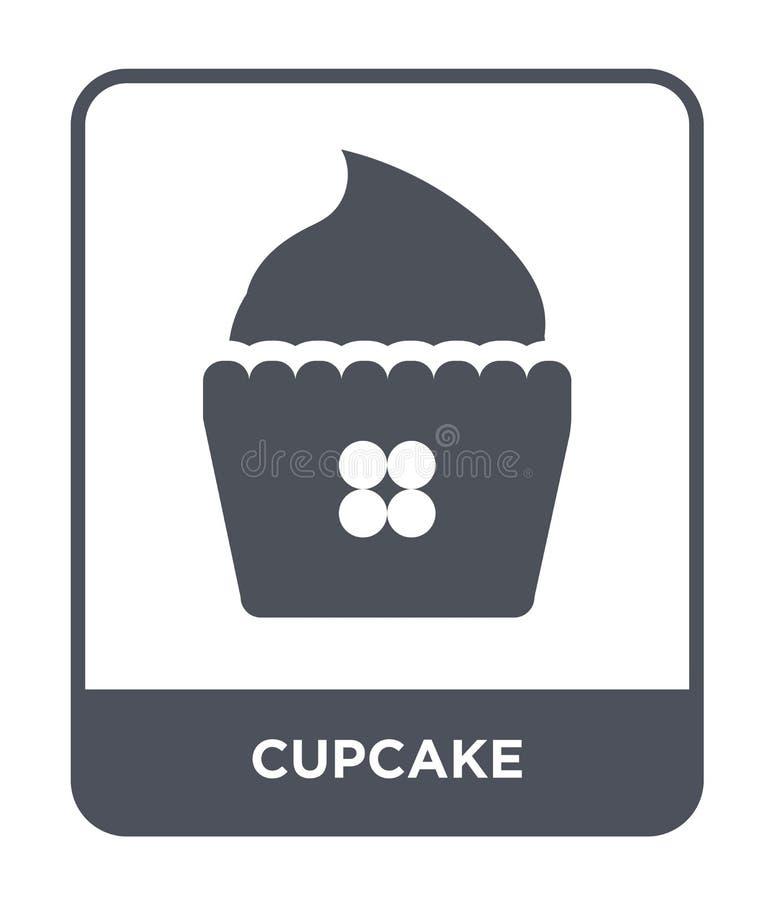 icône de petit gâteau dans le style à la mode de conception Icône de petit gâteau d'isolement sur le fond blanc symbole plat simp illustration de vecteur