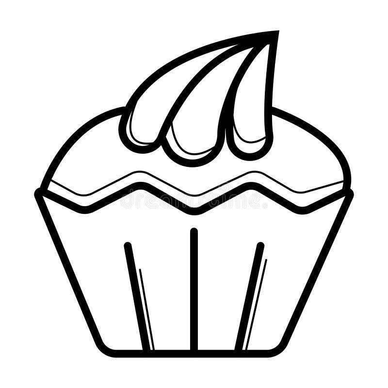 Icône de petit gâteau de vecteur illustration stock