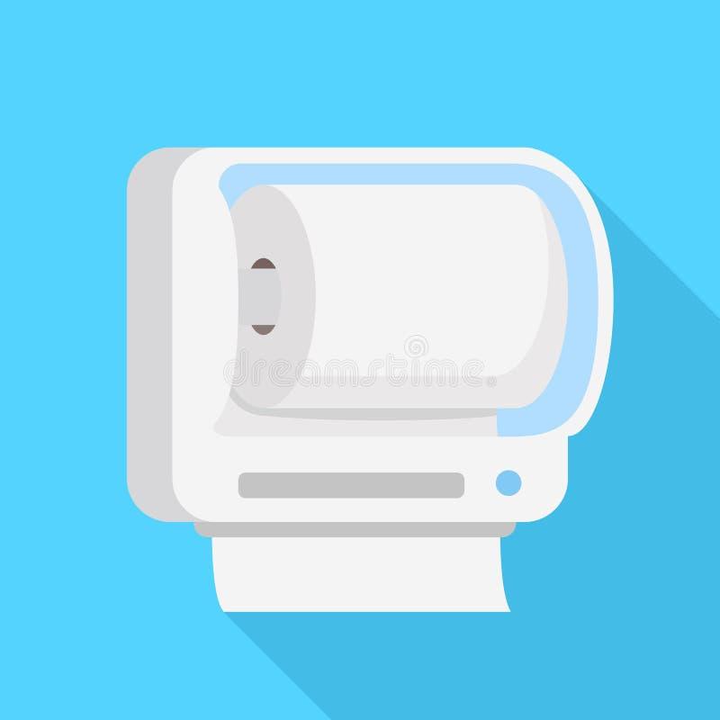 Icône de petit pain de papier hygiénique, style plat illustration stock