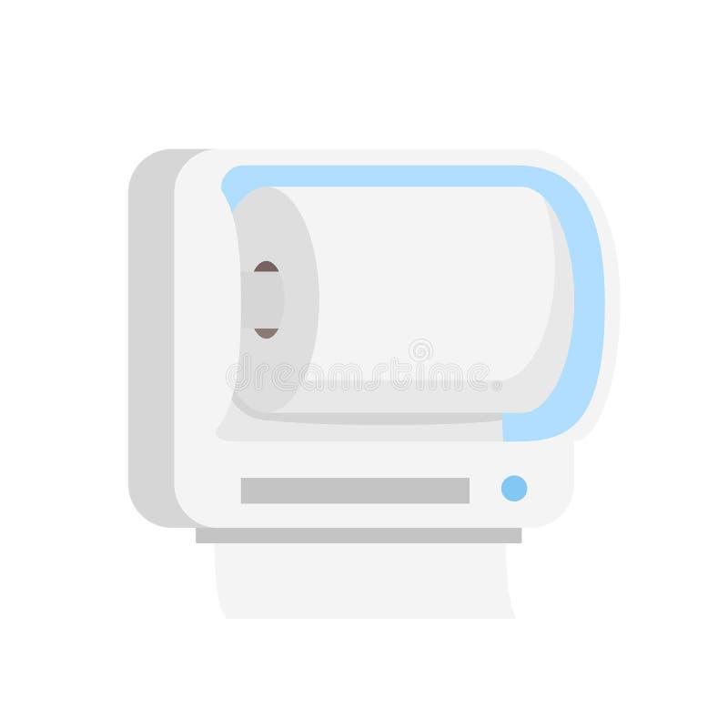 Icône de petit pain de papier hygiénique, style plat illustration de vecteur
