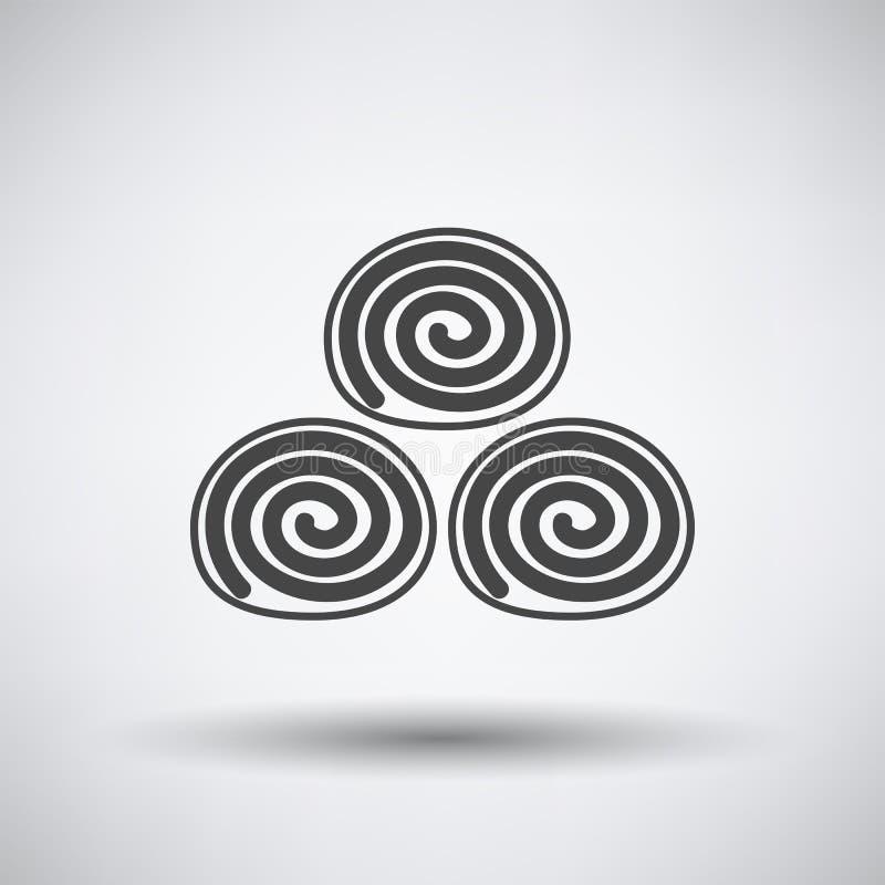 Icône de petits pains de serviette illustration de vecteur