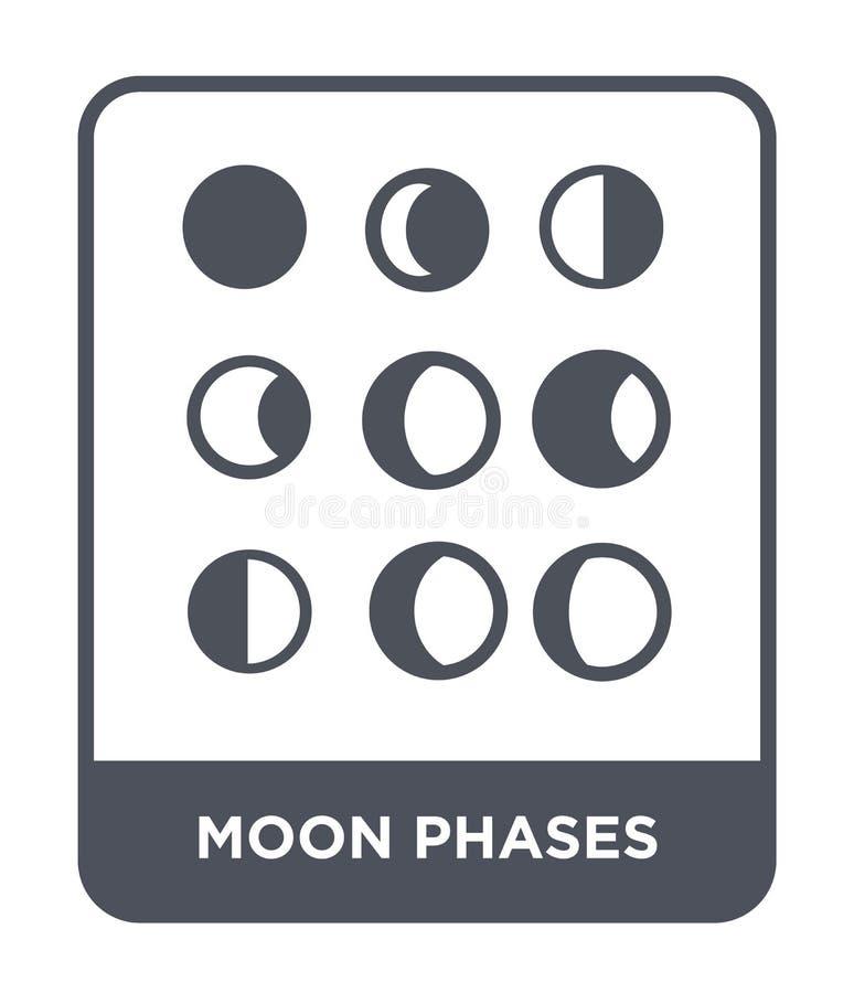 icône de phases de lune dans le style à la mode de conception icône de phases de lune d'isolement sur le fond blanc les phases de illustration stock
