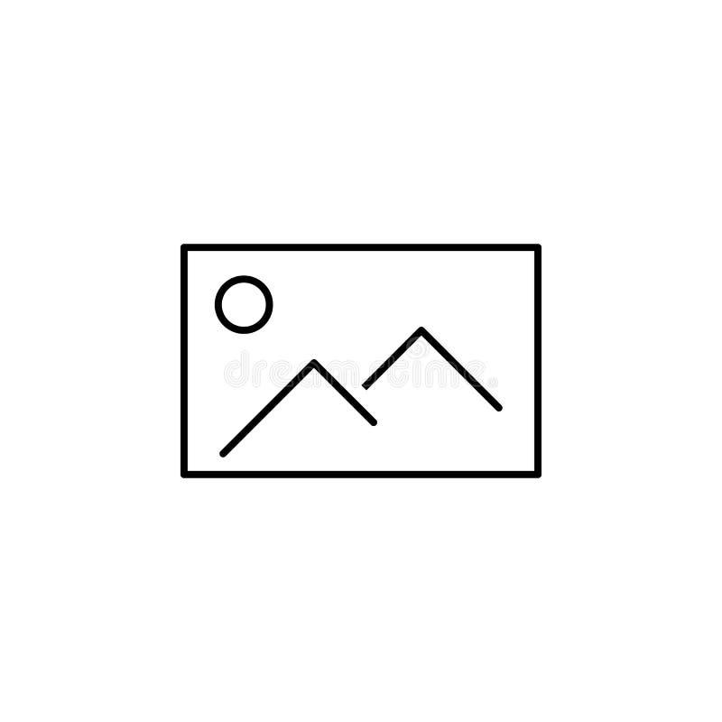 Icône de photo Élément d'icône simple dans le style matériel pour les apps mobiles de concept et de Web Ligne mince icône pour la illustration stock