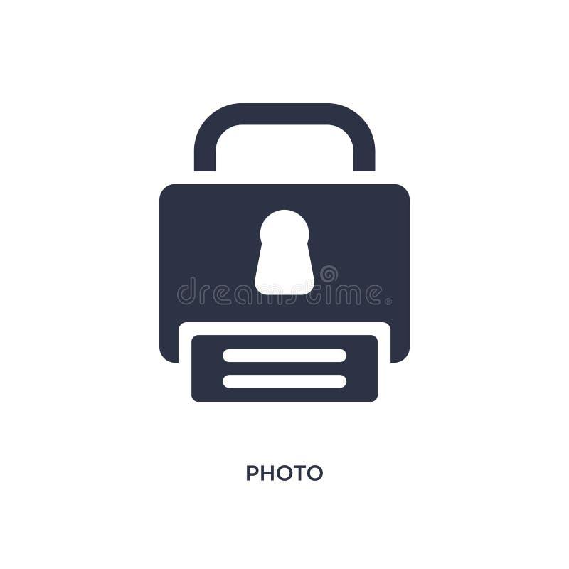 icône de photo sur le fond blanc Illustration simple d'élément de concept de gdpr illustration stock