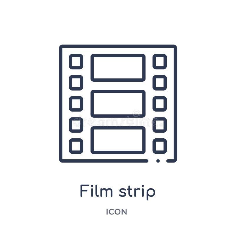 icône de photogrammes de bande de film de collection d'ensemble d'outils et d'ustensiles Ligne mince icône de photogrammes de ban illustration libre de droits