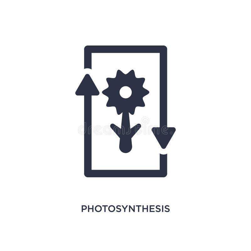 icône de photosynthèse sur le fond blanc Illustration simple d'élément de concept de l'éducation 2 illustration stock