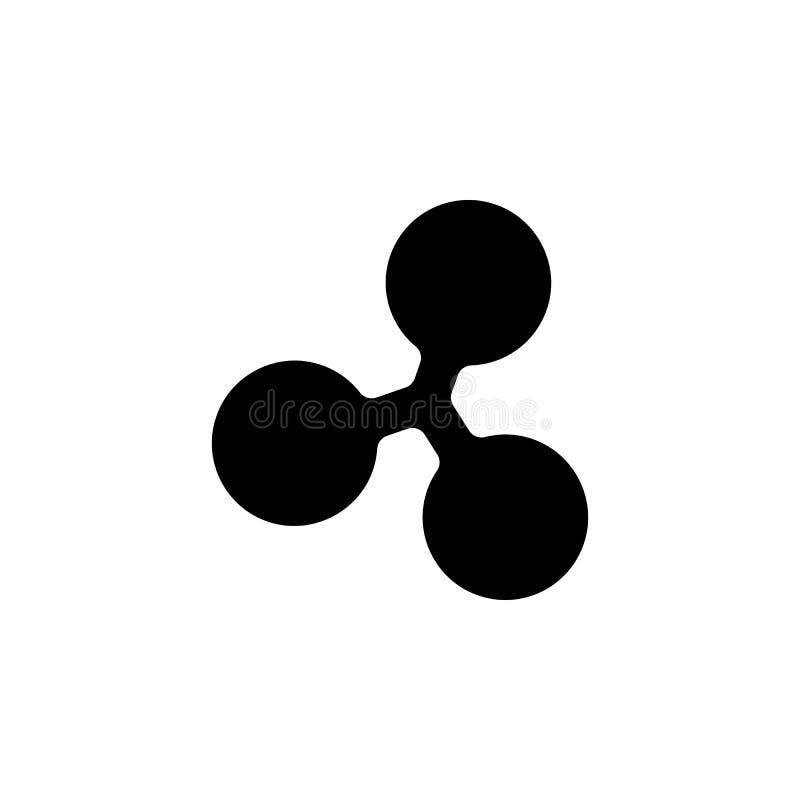 Icône de pièce de monnaie d'ondulation Élément de crypto icône de devise pour les apps mobiles de concept et de Web L'icône détai illustration libre de droits