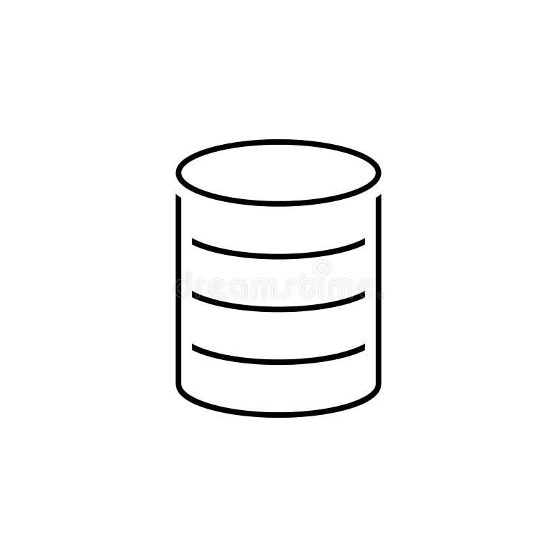 Icône de pièces de monnaie Élément d'icône simple dans le style matériel pour les apps mobiles de concept et de Web Ligne mince i illustration stock