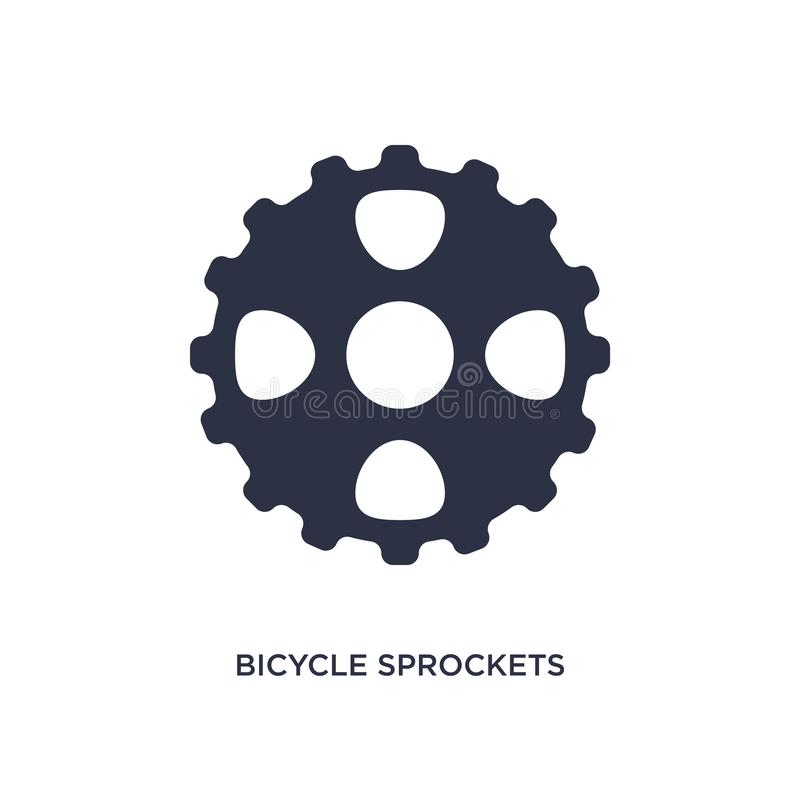 icône de pignons de bicyclette sur le fond blanc Illustration simple d'élément de concept de mechanicons illustration libre de droits
