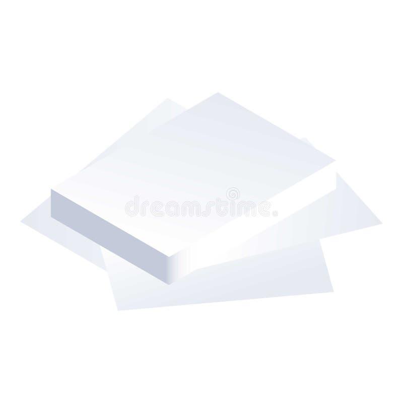 Icône de pile de papier, style isométrique illustration libre de droits
