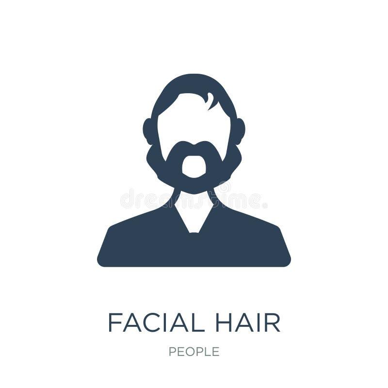 icône de pilosité faciale dans le style à la mode de conception icône de pilosité faciale d'isolement sur le fond blanc icône de  illustration stock