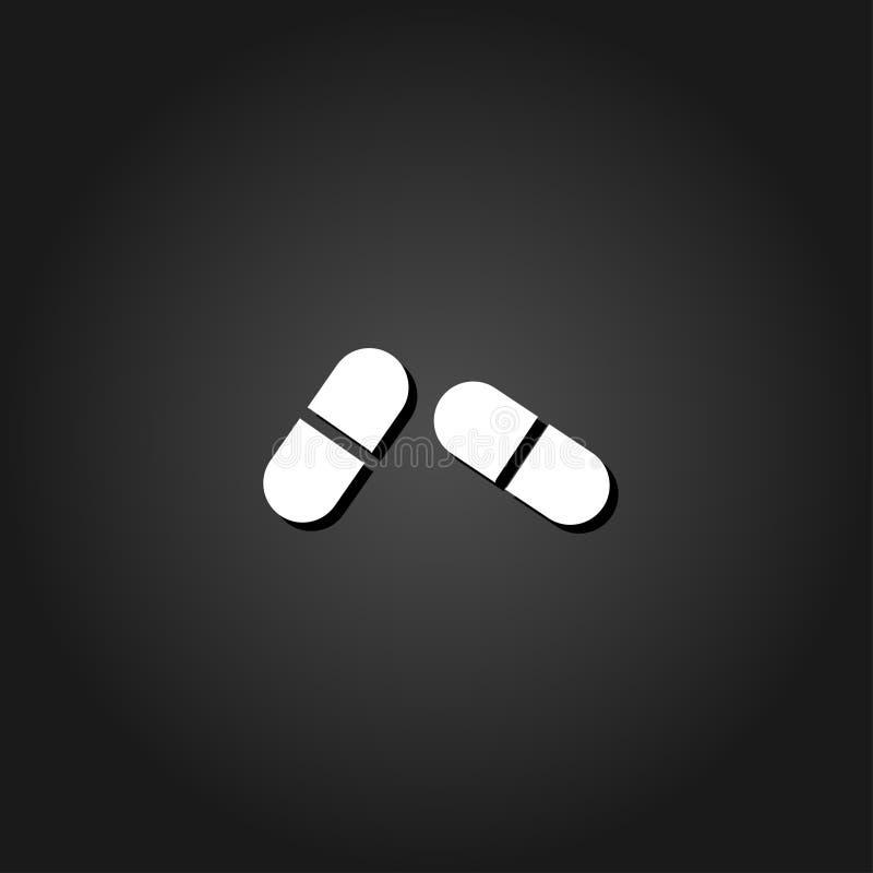 Icône de pilule plate illustration libre de droits