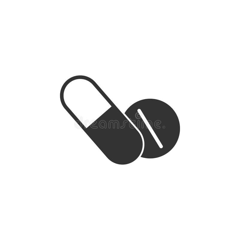 Icône de pilules Illustration simple d'élément Conception de symbole de pilules d'ensemble de collection de grossesse Peut être e illustration de vecteur