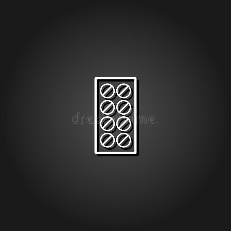 Icône de pilules plate illustration stock