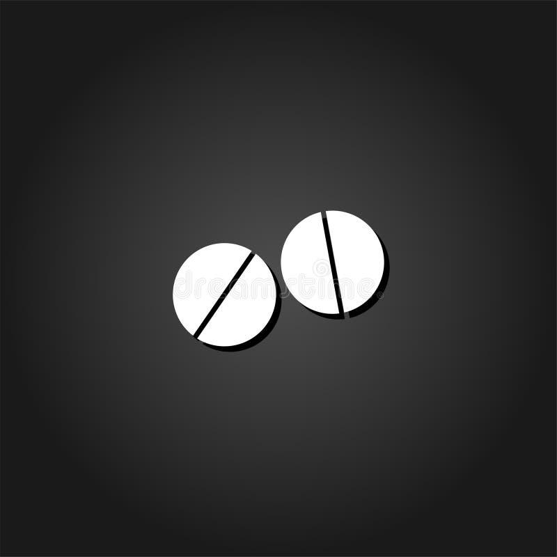 Icône de pilules plate illustration libre de droits