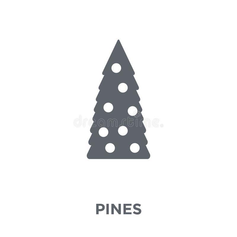 Icône de pins de collection de Noël illustration de vecteur