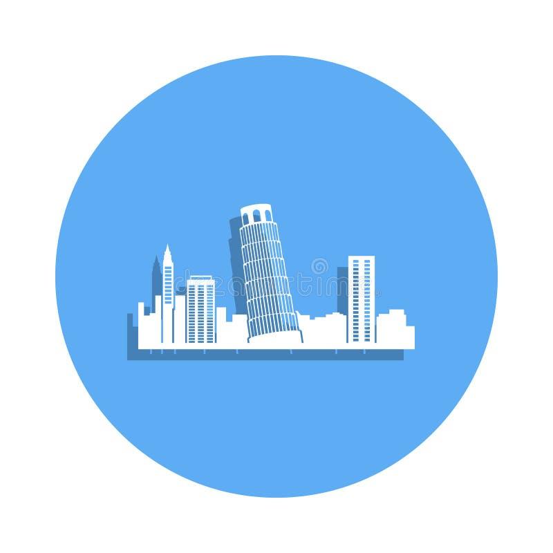 icône de Pise de paysage urbain dans le style d'insigne Un de l'icône de collection de paysage urbain peut être employé pour UI,  illustration libre de droits
