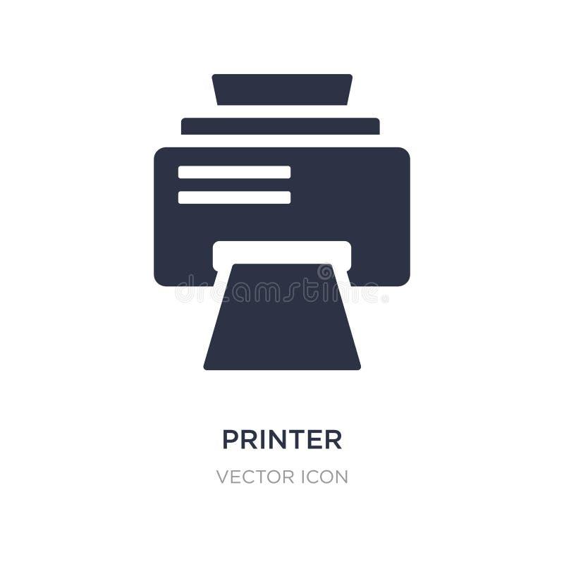 icône de places d'impression d'imprimante sur le fond blanc Illustration simple d'élément de concept d'UI illustration libre de droits