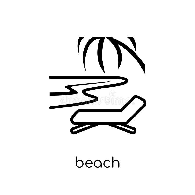 Icône de plage  illustration de vecteur