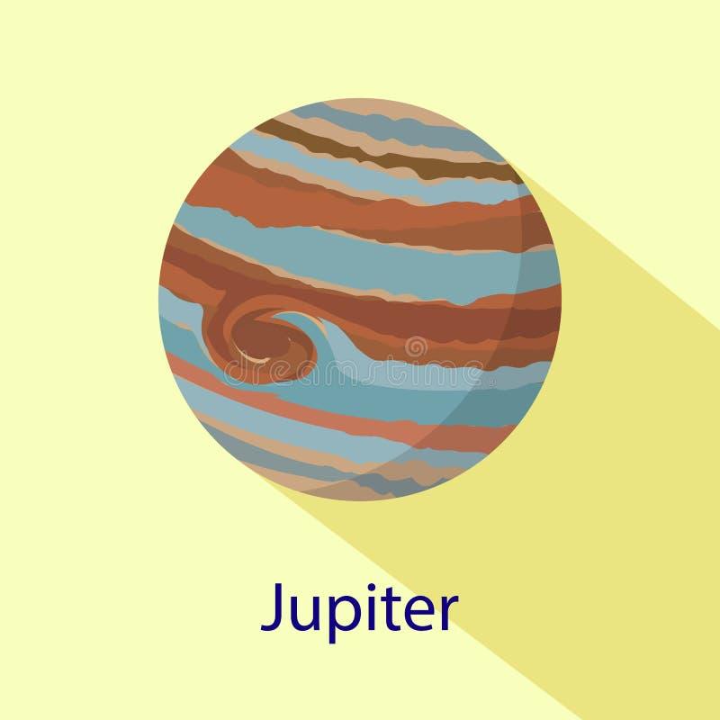 Icône de planète de Jupiter, style plat illustration libre de droits