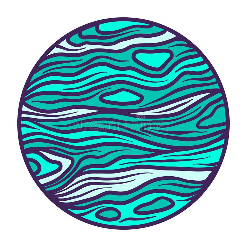 Icône de planète de l'espace, style tiré par la main illustration de vecteur
