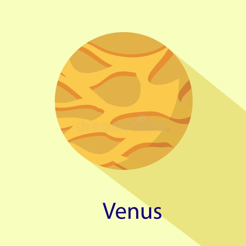 Icône de planète de Vénus, style plat illustration stock