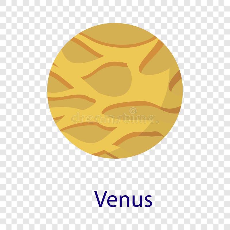 Icône de planète de Vénus, style plat illustration de vecteur