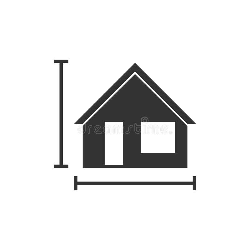 Icône de plan de Chambre à plat illustration libre de droits