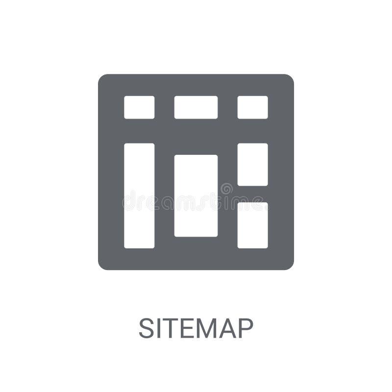 Icône de plan du site  illustration stock
