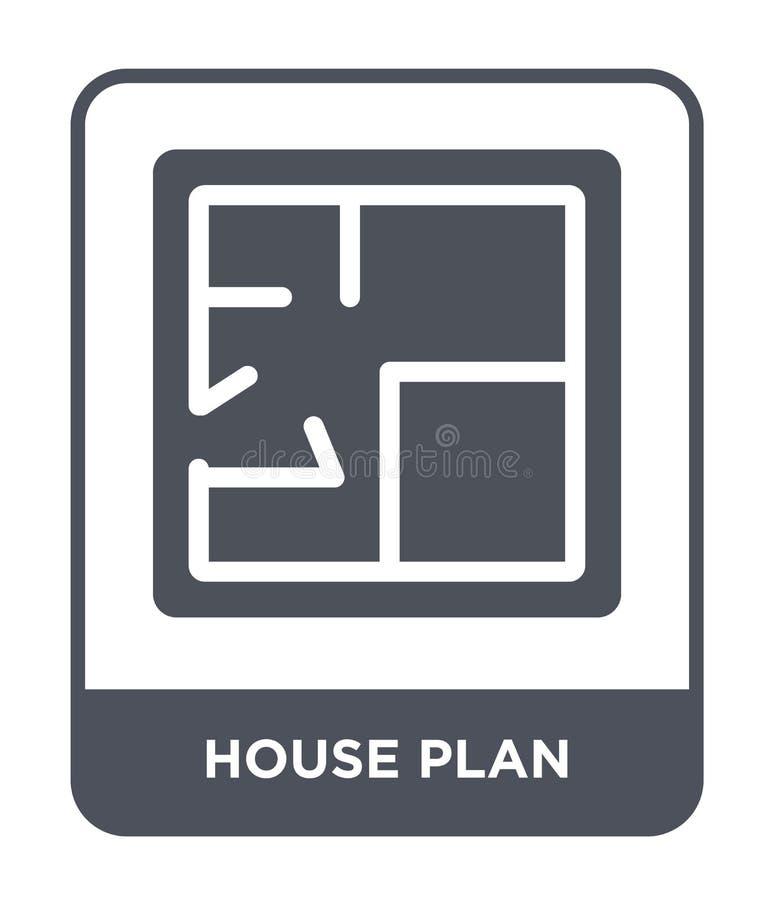 icône de plan de maison dans le style à la mode de conception icône de plan de maison d'isolement sur le fond blanc icône de vect illustration stock