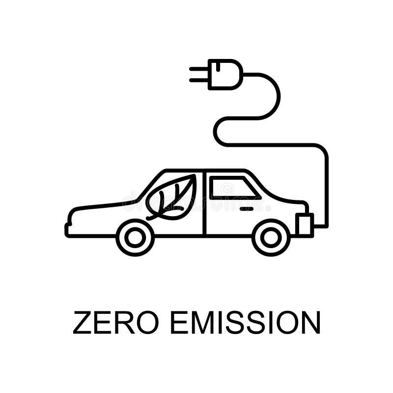 icône de plan zéro émission Élément d'icône de protection de l'environnement avec le nom du concept mobile et des applications We illustration libre de droits