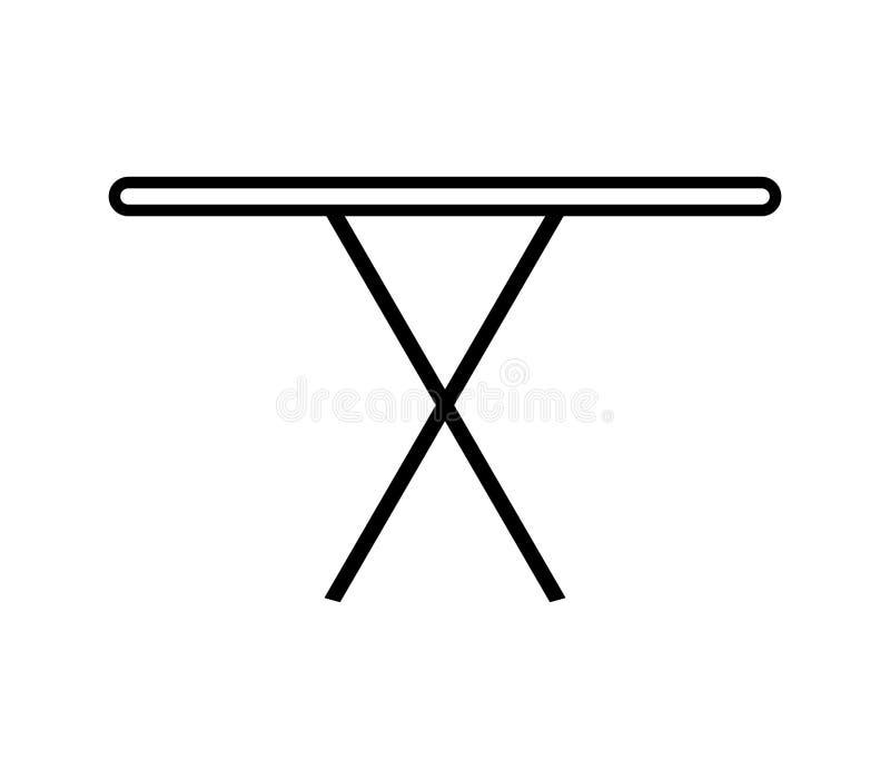 Icône de planche à repasser illustrée illustration de vecteur