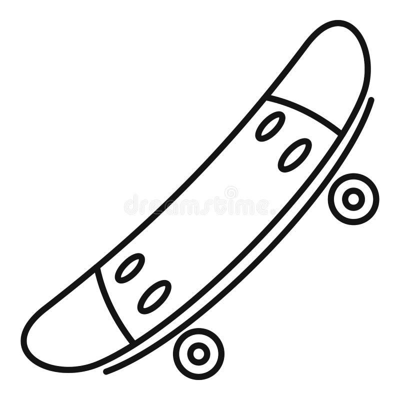 Icône de planche à roulettes de sport, style d'ensemble illustration stock